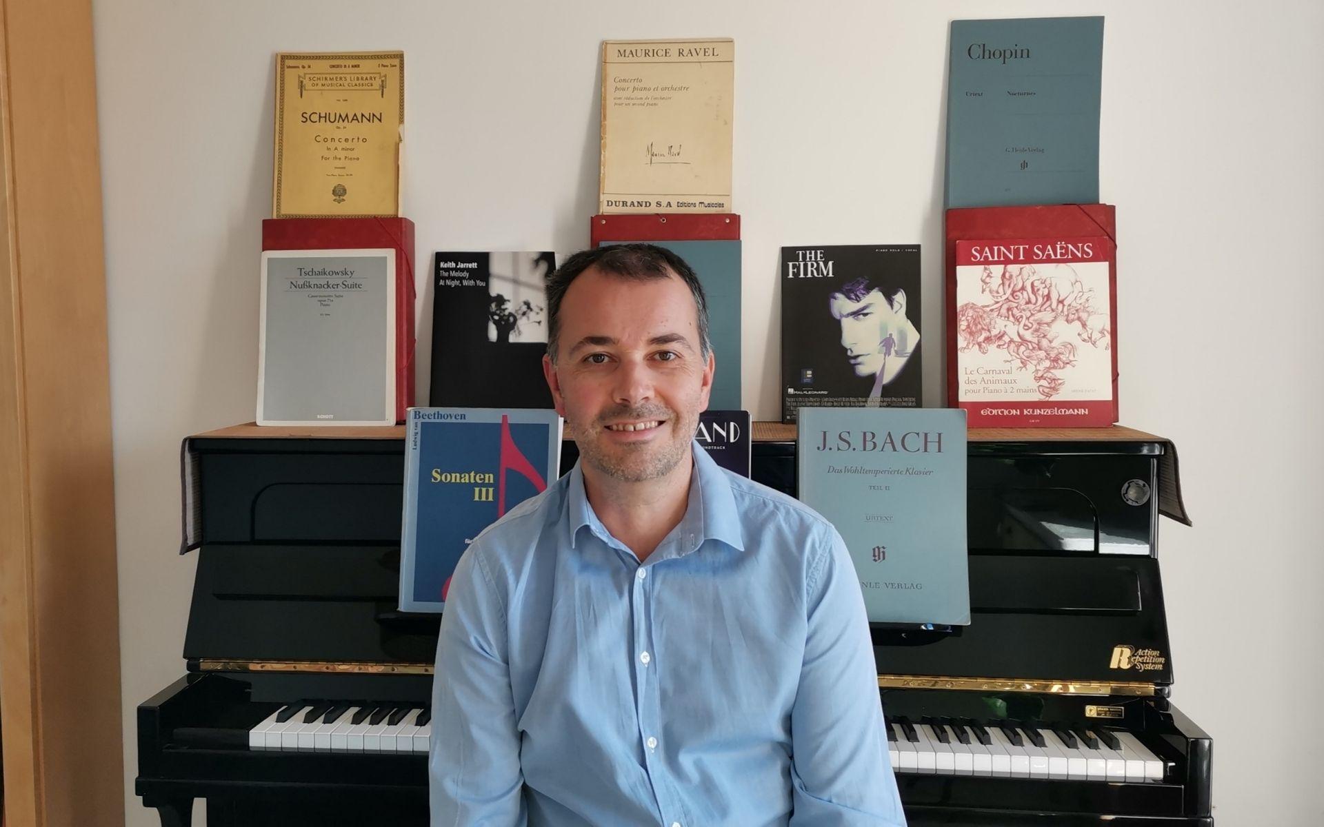 Grégoire professeur pour cours de piano à Cagnes-sur-mer